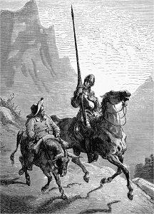 Don Chisciotte e Sancho Panza  Illustrazione di Gustave Dorè