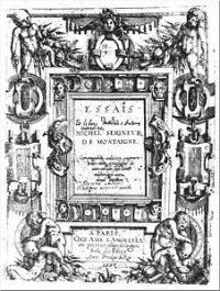 Copertina della prima edizione degli Essais di Montaigne