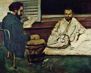 Zola e Alexis dipinti da Cézanne