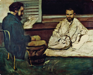 Paul Alexis legge un manoscritto a Émile Zola di Paul Cézanne (1869/1870)