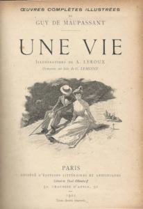 Copertina del romanzo Une vie di Guy de Maupassant