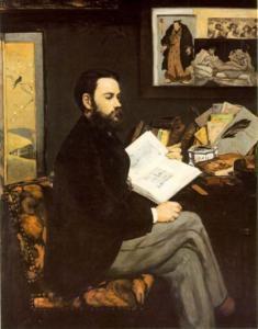 Ritratto di Zola da Manet
