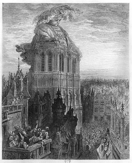 Il furto delle campane, illustrazione di Doré