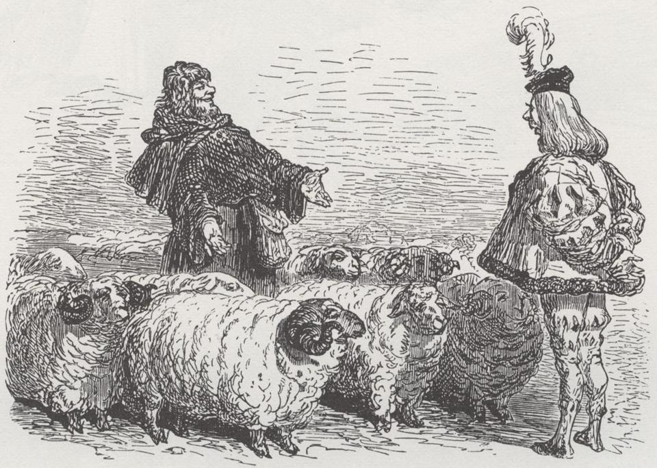 Panurgo e il mercante di montoni