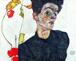 Schiele Autoritratto 1912