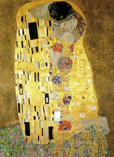 Klimt Bacio 1907/08