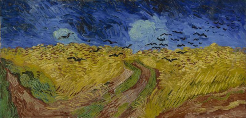 Van Gogh: Campo di grano con corvi, 1890, Van Gogh Museum, Amsterdam (Vincent van Gogh Foundation)