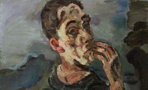 Oskar Kokoschka: Autoritratto con la mano alla bocca (Selbstbildnis, eine Hand ans Gesicht gelegt), 1918/19, Wien: Leopold Museum