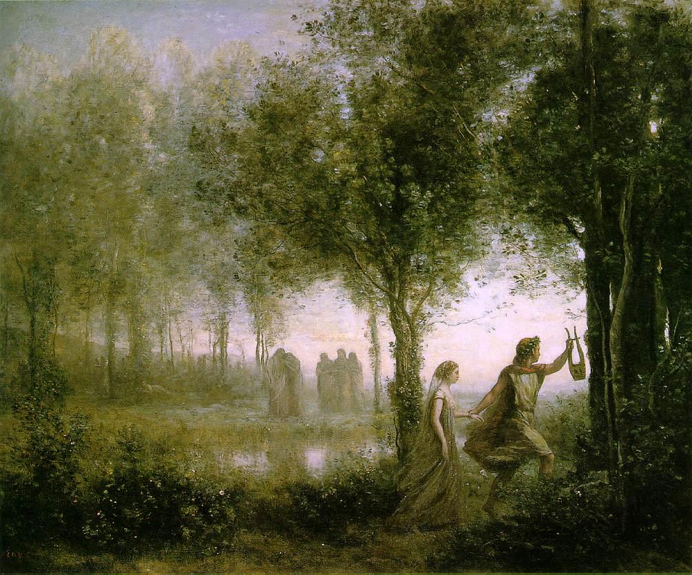 Jean-Baptiste Camille Corot: Orfeo ed Euridice dagli Inferi, 1861