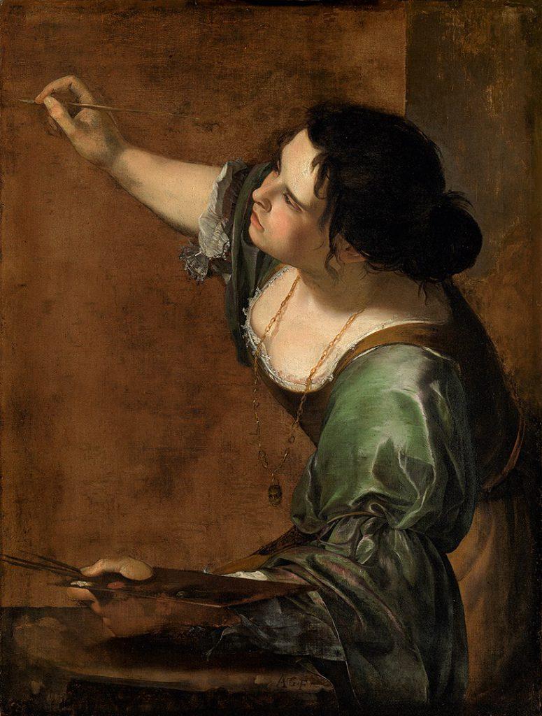 Artemisia Gentileschi: Autoritratto come allegoria della pittura, 1638 circa, London: Kensington Palace.