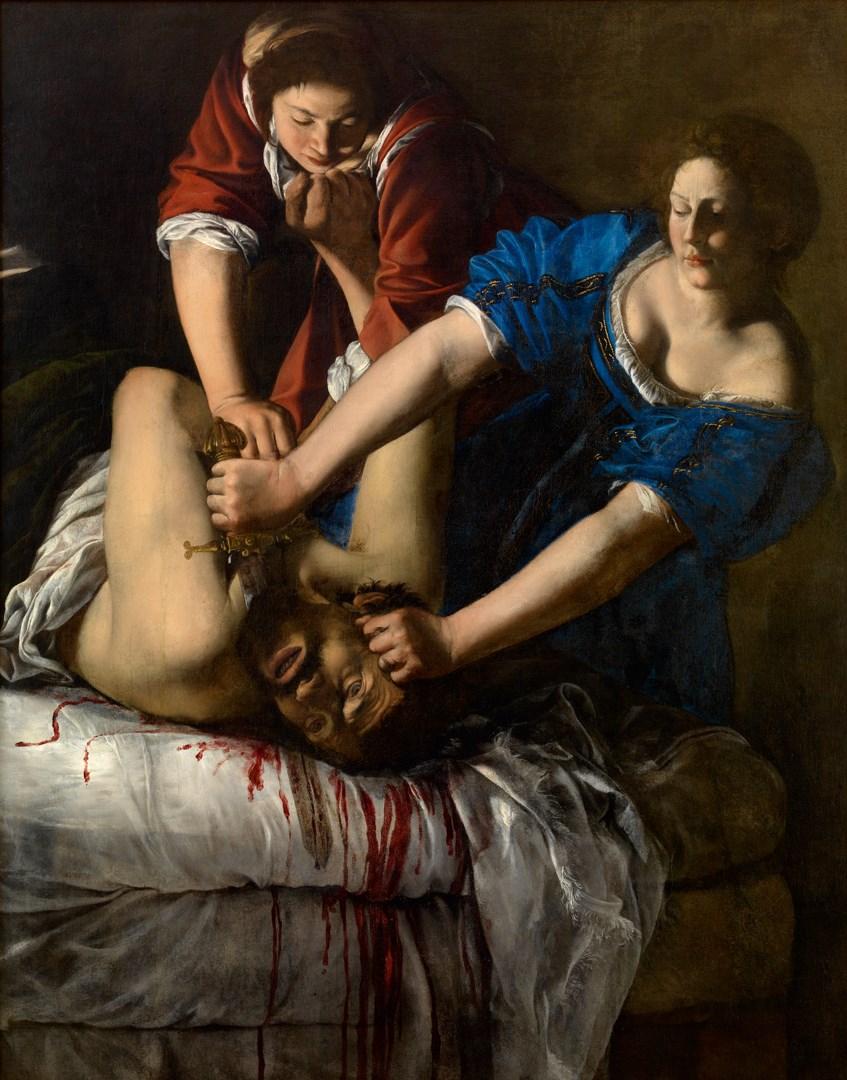 Artemisia Gentileschi: Giuditta che decapita Oloferne, 1612/13, Napoli: Capodimonte.
