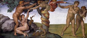 Michelangelo Buonarroti, Peccato originale e cacciata dal Paradiso terrestre, 1510 Roma, Musei Vaticani
