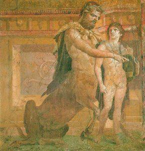 Chirone educa Achille, Ercolano.