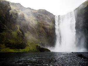 La cascata islandese